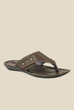 Get Glamr Tyson Brown Slide Sandals