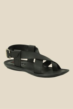 Get Glamr Ashton Black Back Strap Sandals