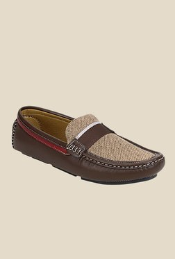 Get Glamr Woolf Brown Loafers