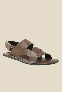 Get Glamr Nigel Brown Back Strap Sandals