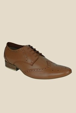Get Glamr Jon Brown Brogue Shoes