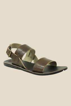 Get Glamr Joel Brown Back Strap Sandals