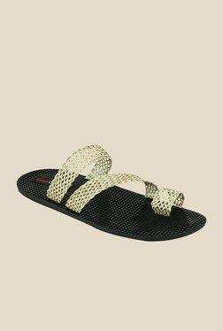 Get Glamr Sandro Beige Toe Ring Sandals