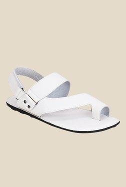Get Glamr Meyer White Back Strap Sandals