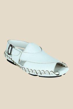 Get Glamr John White Back Strap Sandals