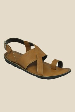 Get Glamr Robert Brown Back Strap Sandals