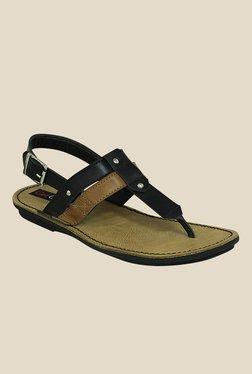 Get Glamr Ricki Black T-Strap Sandals