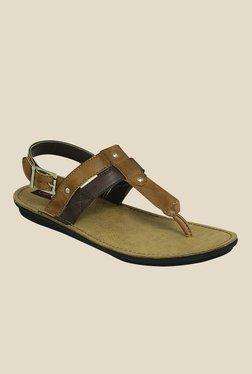Get Glamr Ricki Beige T-Strap Sandals