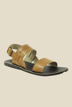 Get Glamr Joel Tan Back Strap Sandals