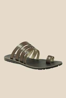 Get Glamr Jacob Brown Slide Sandals