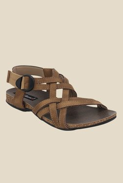 Get Glamr Droga Tan Back Strap Sandals