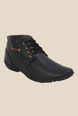 Get Glamr Bane Black Derby Shoes