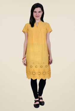 Juniper Mustard Cotton Kurta