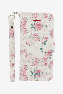 Memumi Flower Printed Flip Cover For IPhone 5C (White)