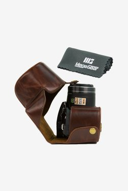 MegaGear Leather Camera Case for Nikon Coolpix P520 (Brown)