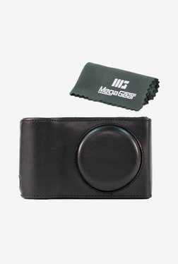 MegaGear Leather Camera Case for Samsung EK-GC100 (Black)