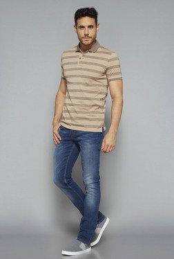 Westsport Casual By Westside Beige Slim Fit T Shirt
