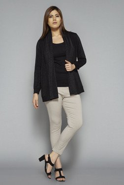 Gia By Westside Black Cotton Shrug