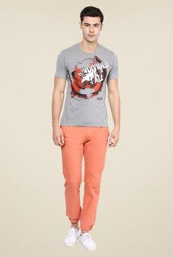Yepme Star Of Civil War Grey Graphic Print T Shirt