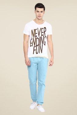 Yepme Never Ending Fun White Graphic Print T Shirt