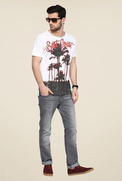 Yepme White Graphic Print T Shirt