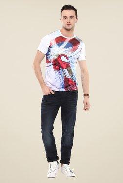 Yepme Civil War Iron Punch White Graphic Print T Shirt