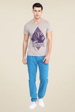 Yepme Perspective Grey Graphic Print T Shirt