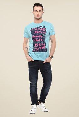 Yepme Amsterdam Blue Graphic Print T Shirt