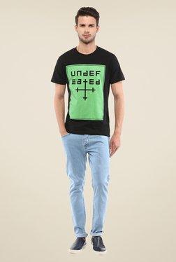 Yepme Undefeated Black Graphic Print T Shirt