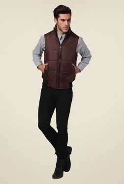 Yepme Brown Jacob Quilted Jacket
