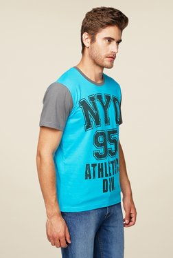 Yepme Blue NYC 95 Printed T Shirt