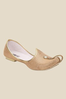 Yepme Golden Jutti Shoes