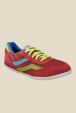 Yepme Burgundy & Green Sneakers