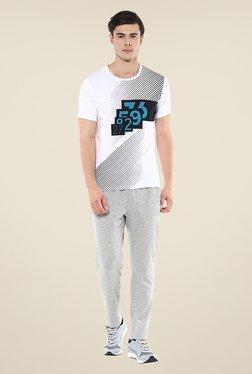 Yepme White Lee High Performance Printed T-shirt