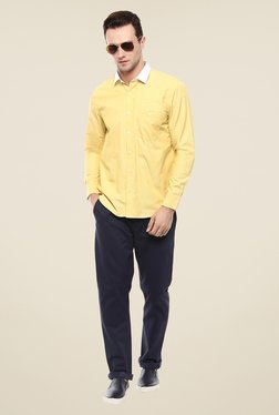 Yepme Yellow Luther Solid Shirt