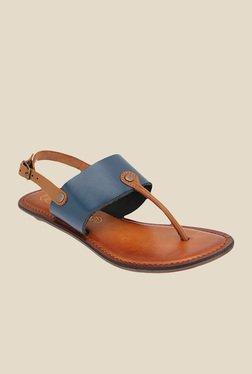 Catwalk Navy & Brown Back Strap Sandals