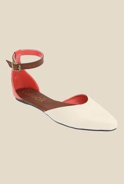 Catwalk Beige & Brown Ankle Strap Sandals