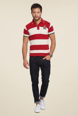 Duke Stardust Red & White Striped T-shirt