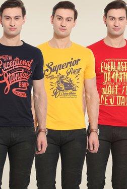 Duke Stardust Multicolor Graphic Print T Shirt (Pack Of 3)