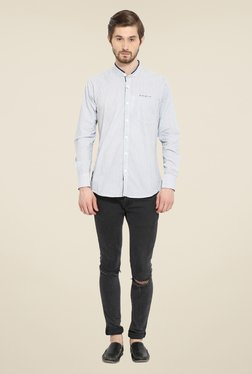 Duke Stardust Off White Printed Shirt