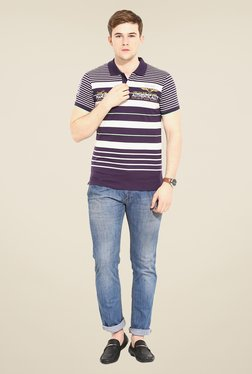Duke Stardust Purple & White Striped T-shirt