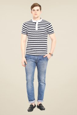 Duke Stardust Navy & White Striped T-shirt