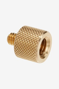 "Manfrotto 015 1/4""-20 Male 20mm-3/8"" Female Adapter (Gold)"