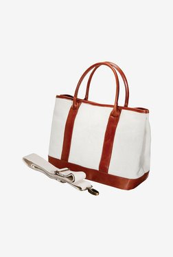 Fujifilm Canvas Camera Bag (White/Brown)