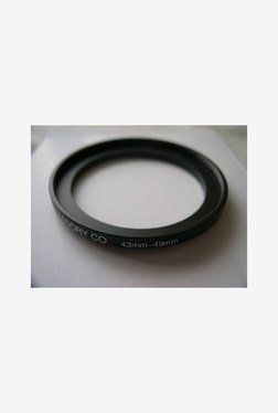 HeavyStar Dedicated Metal Step-Up Ring 43mm to 49mm (Black)