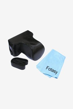 Fotasy Leather Case And Cleaning Cloth For Fujifilm Camera