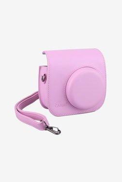 Caiul Soft PU Leather Instax Mini 8 Camera Case Bag (Pink)