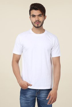 Weardo White Crew Neck T Shirt