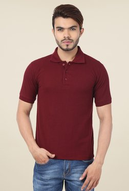 Weardo Maroon Polo T Shirt