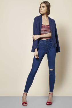 New Look Blue Slim-fit Jacket
